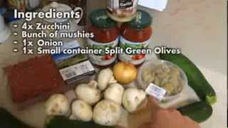 Cooking With Luke - Italian Zuchinni Pasta (paleo Friendly)