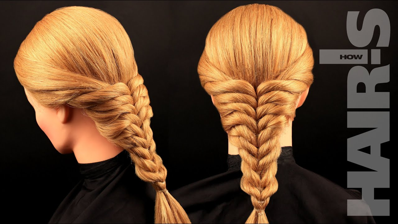 Коса из резинок мастер класс фото