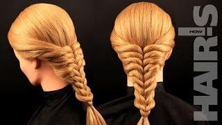Заплетаем косу из резинок - видеоурок (мастер-класс) Hair's How.