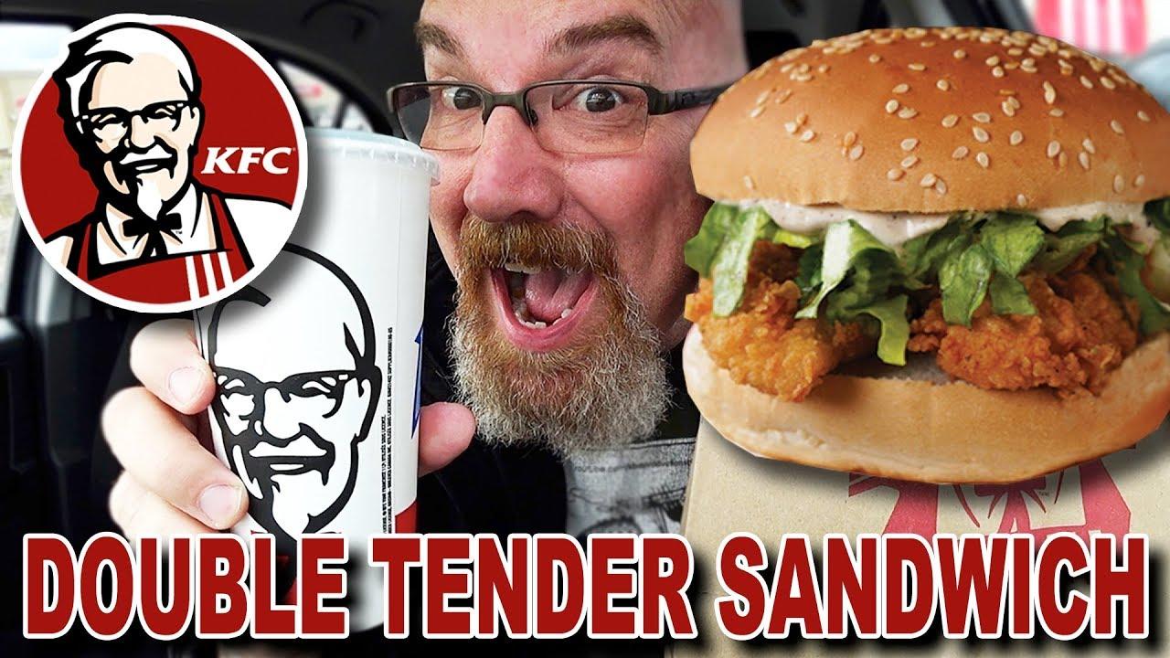 KFC ???? DOUBLE TENDER SANDWICH $5 Fill Up | Mountain Dew Baja Blast