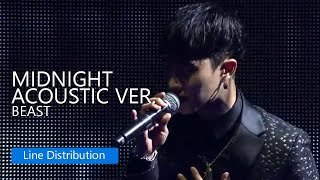 BEAST - Midnight (Acoustic Ver) : Line Distribution