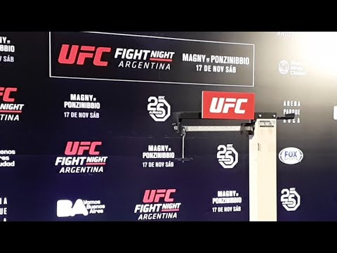UFC Argentina Official Weigh-ins LIVE