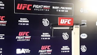 UFC Argentina Official Weigh-ins LIVE
