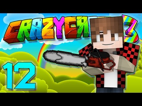 Minecraft Crazy Craft 3.0: ULTIMATE AXE TRANSFORMATION, THE CHAINSAW  #12 (Modded Roleplay)
