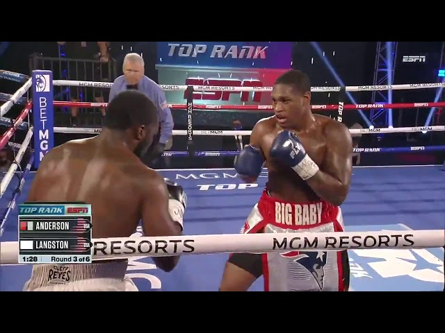 Jared Anderson makes it 4 fights, 4 finishes by overwhelming Johnnie Langston | FIGHT HIGHLIGHTS