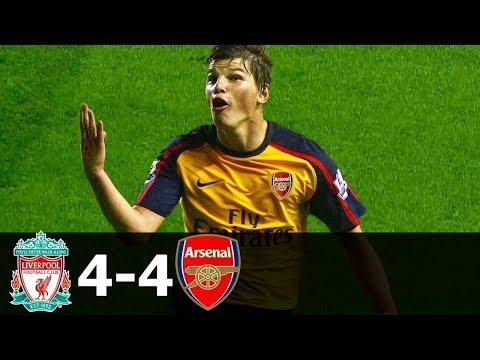 Ливерпуль 4:4 Арсенал  (ОБЗОР МАТЧА) Чемпионат Англии 2008 09 HD