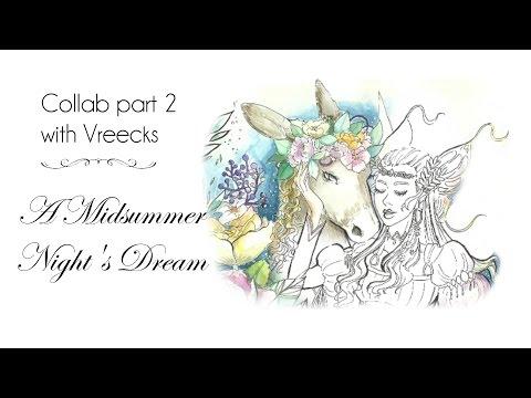 Did I ruin Vreecks art? Midsummer nights dream, part 2! ART COLLAB - Watercolor speedpaint