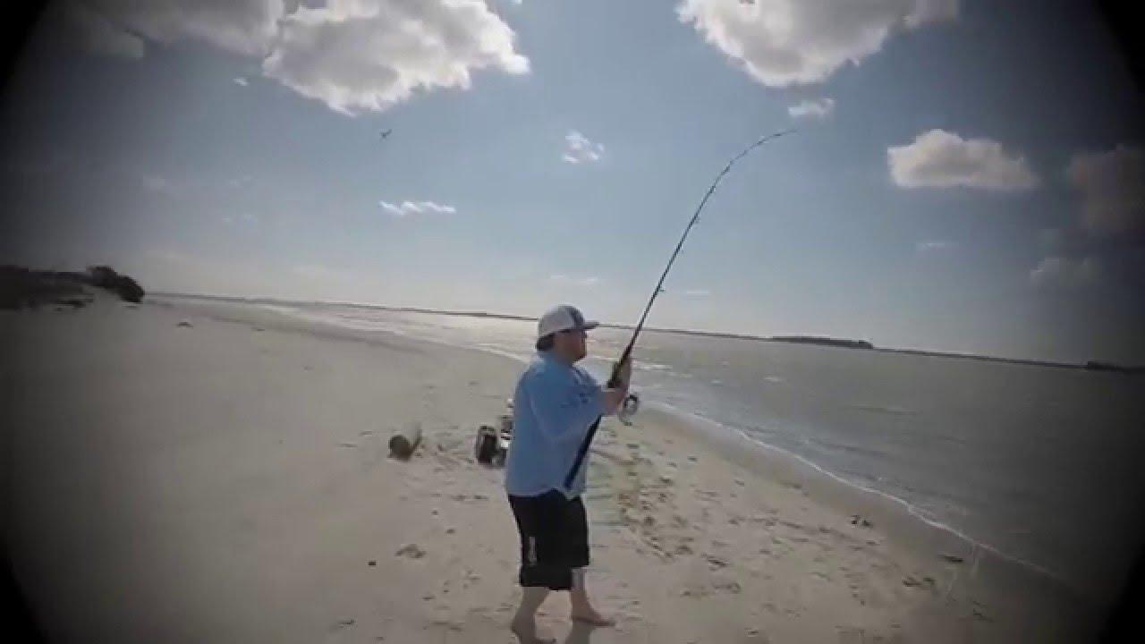 Folly beach red fishing youtube for Folly beach fishing