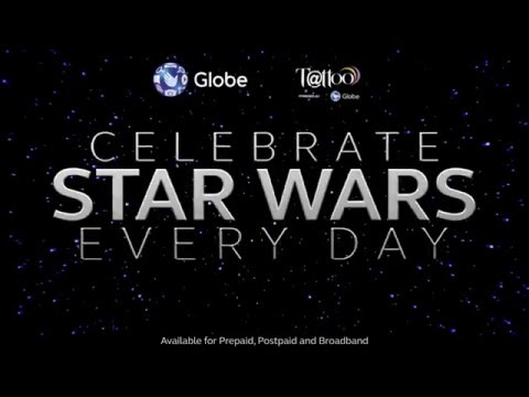 Win Star Wars Prizes Everyday with Globe
