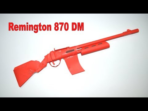 How to make a paper gun - Remington 870 DM - DIY - paper toy - origami