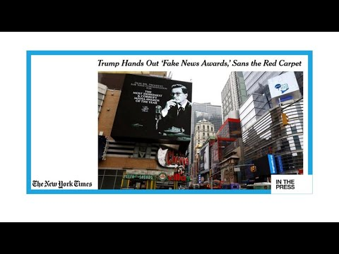 'And the winner is'...Trump awards Fake News to CNN, New York Times