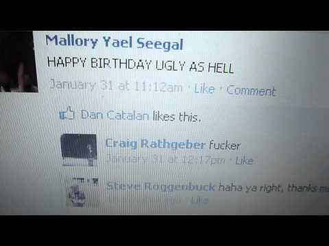 i responded to every happy birthday post on craig rathgeber's facebook wall (2011)