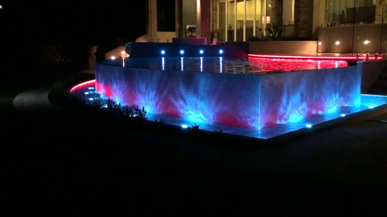 swimming pool light show youtube