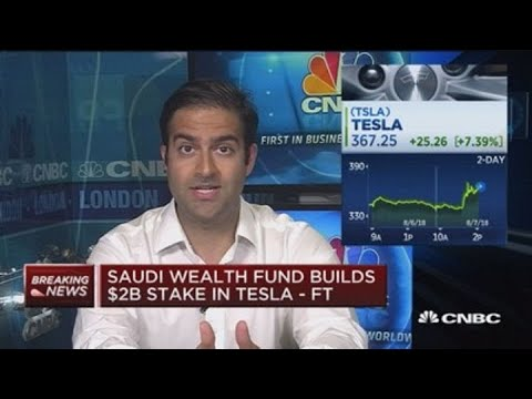 Saudi wealth fund builds $2B stake in Tesla: FT