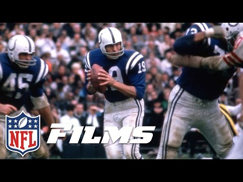 #5 Johnny Unitas | NFL Films | Top 10 Clutch Quarterbacks of All Time