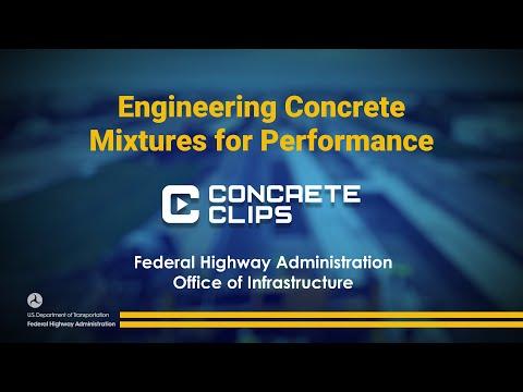Concrete Clips: Engineering Concrete Mixtures for Performance