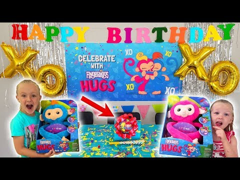 HUGE Birthday Party With Fingerling Hugs From WowWee Toys!!! Surprise Gifts & Giveaway!