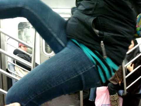 Hanging Upside Down on 2 Train