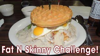 KJ's Waffle Breakfast Sandwich FAT-N-SKINNY Challenge   Randy Santel
