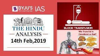 'The Hindu' Analysis for 14th Feb, 2019. (Current Affairs for UPSC/IAS )