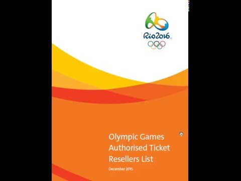 Olympic 2016 Games Authorised Ticket Resellers | RIO 2016 buy ticket Online