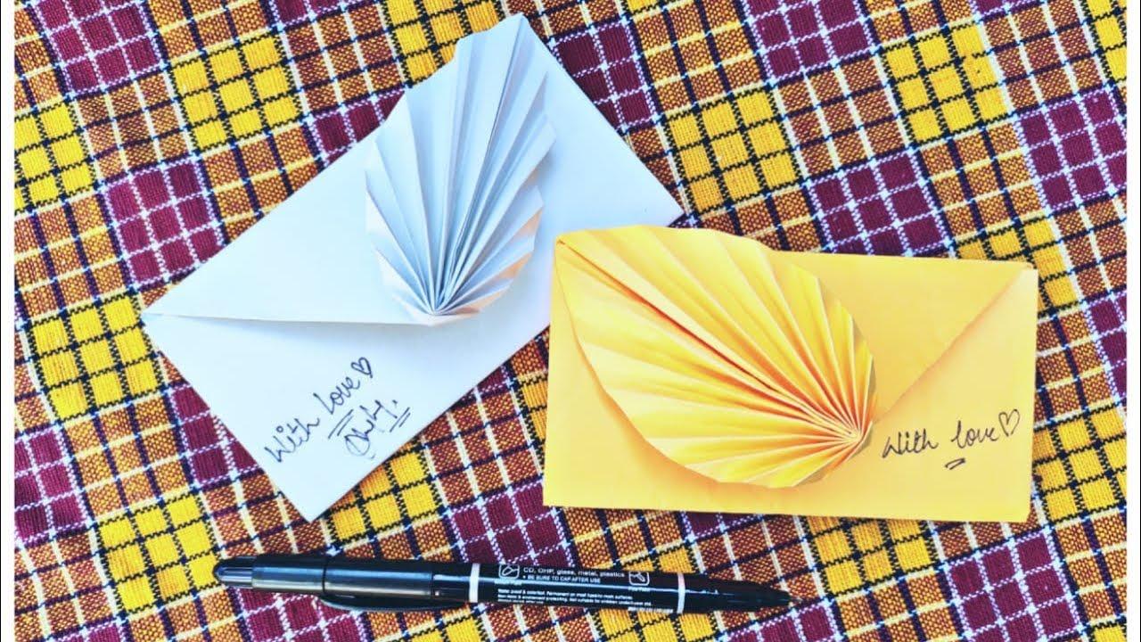 diy flower envelope gift  youtube