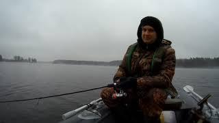 Спиннинг на Десногорском водохранилище ноябрь 2019