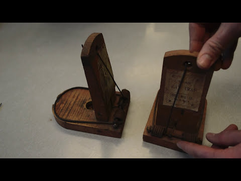 Thumbnail: Antique Tombstone Rat Trap in action - Motion Camera. Mouse Trap Monday