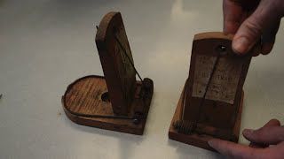Antique Tombstone Rat Trap in action - Motion Camera. Mouse Trap Monday