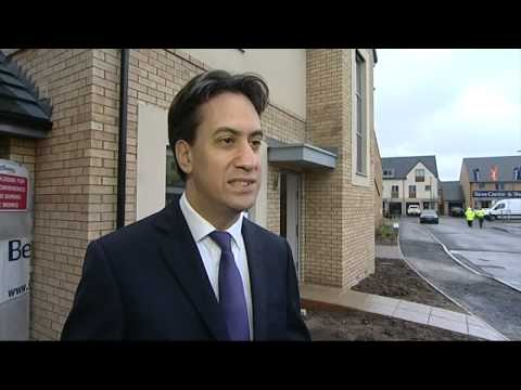Miliband on attack over new homes