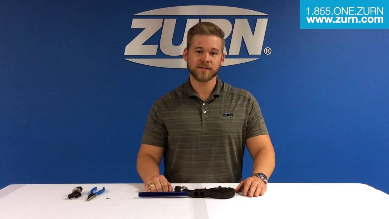 zurn pex plumbing qcrtldm crimp tool how to repair screw nut assembly youtube. Black Bedroom Furniture Sets. Home Design Ideas