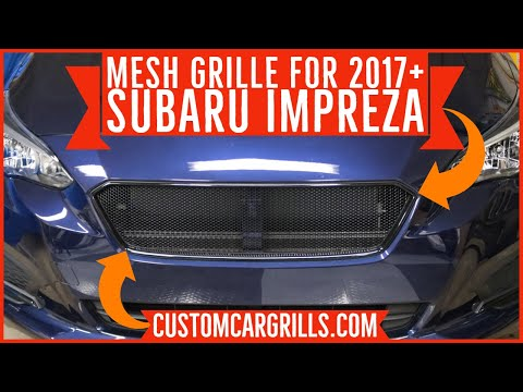 How to Install a Mesh Grille on a Subaru Impreza 2017 – 2019 by customcargrills.com
