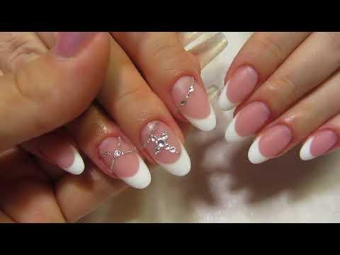Матовые овальные ногти