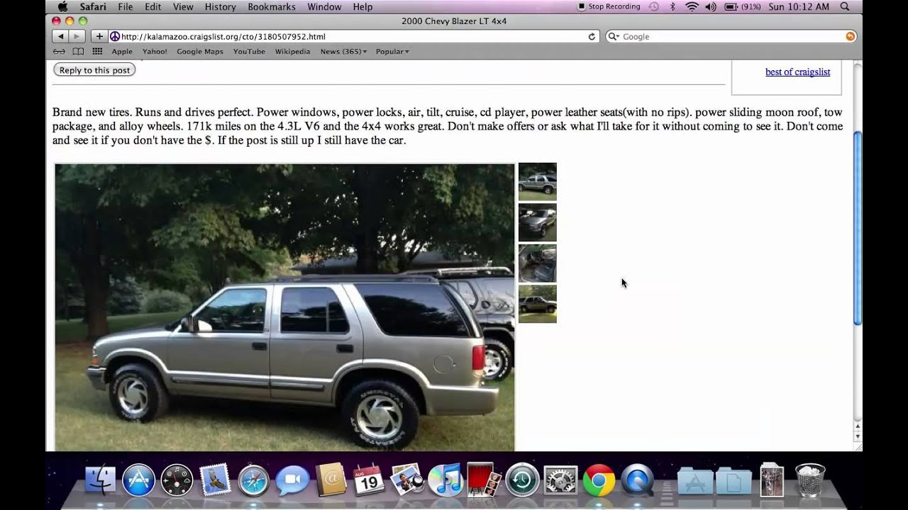 Craigslist kalamazoo michigan used cars for sale by owner trucks and vans popular youtube