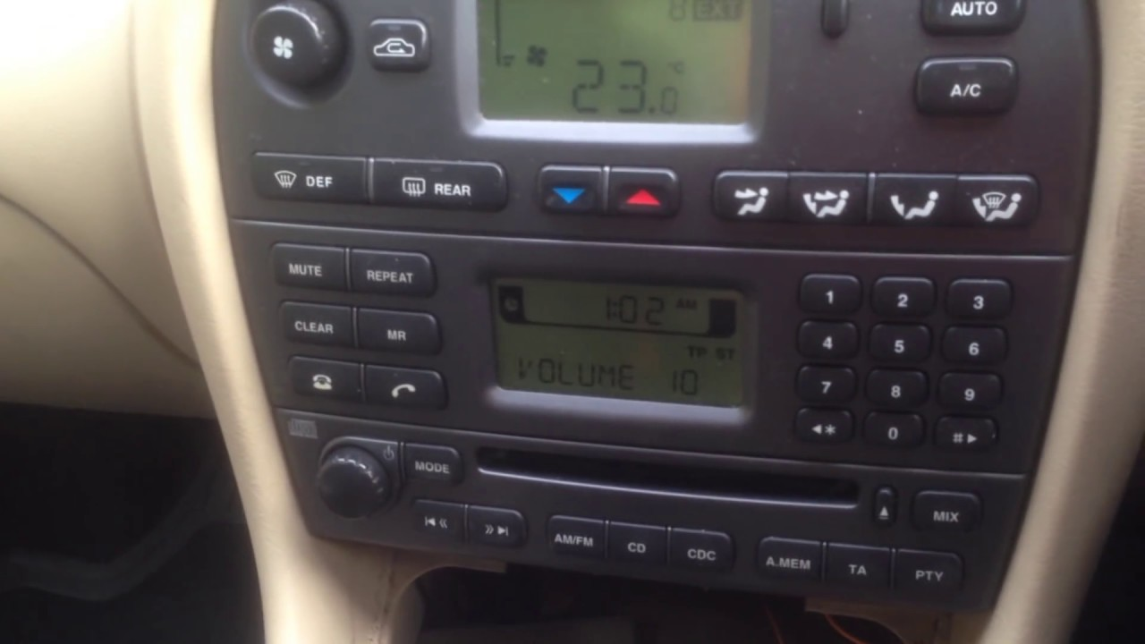 Jaguar X Type S Type How To Bypass Security Code On Radio Cd Player Youtube