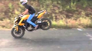 Pulsar 200NS Rolling Stoppie