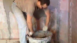 Штукатурка стен от Юрия - мешок Ротбанда за 3 мин с ковшом КОНДОР⛔(Штукатурка стен с ковшом КОНДОР. Сайт этого инструмента - http://www.super-kondor.ru., 2016-03-04T07:30:58.000Z)