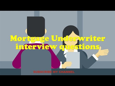 Mortgage Underwriter interview questions - YouTube