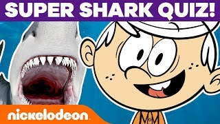Lincoln & Lucy Loud Take a Shark Quiz! 🦈 The Loud House | Nick