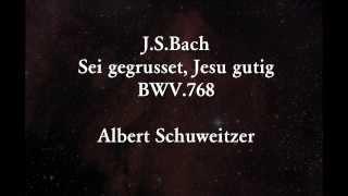 アルベルト・シュヴァイツァーが演奏した、バッハのコラールです。 奥の...
