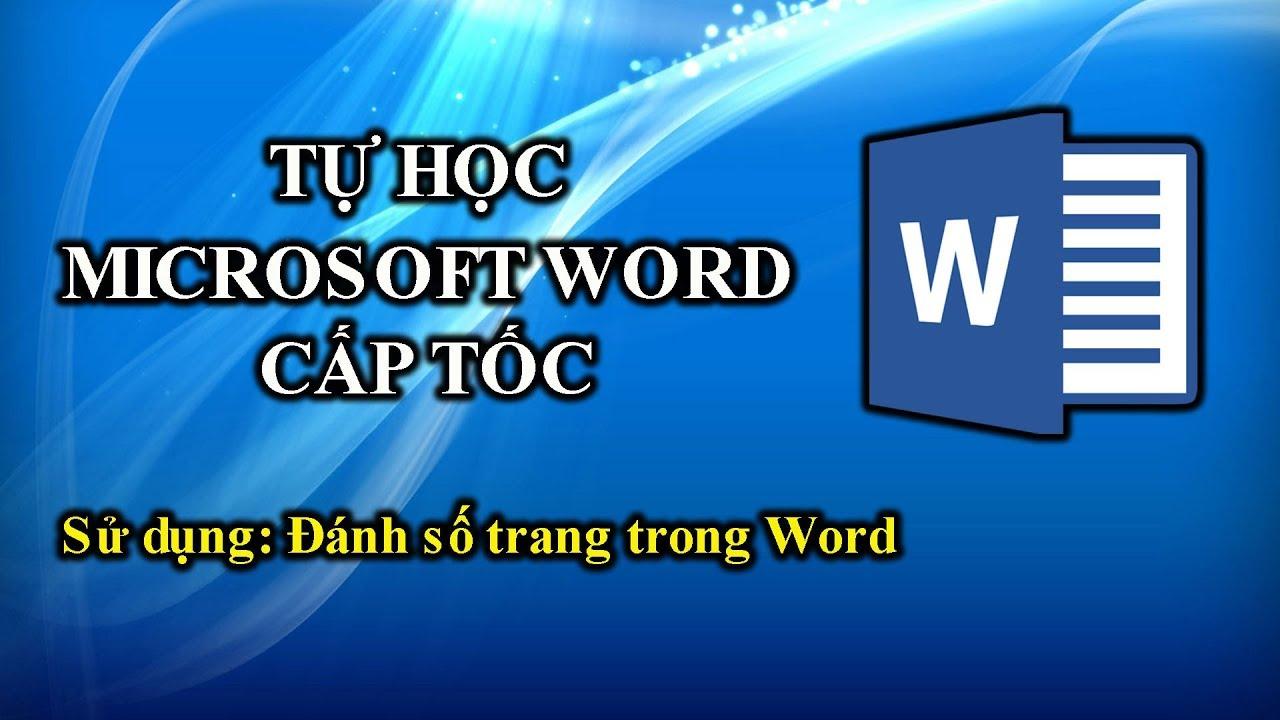 024 | Học Word 2010 | Đánh số trang trong Word