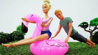 Барби и Кен на пляже - Отдыхаем и купаемся! Видео для девочек
