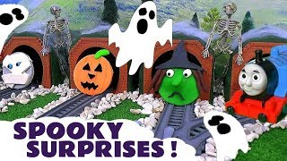 Thomas and Friends funny Play Doh ghost surprises - Fun guess the toy train game for kids TT4U