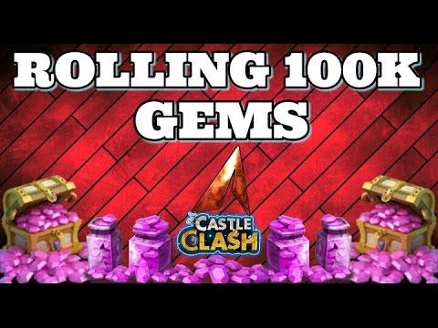 Castle Clash Rolling 100K Gems!