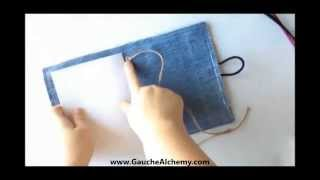 How To Upcycle Old Jeans Into An Art Journal