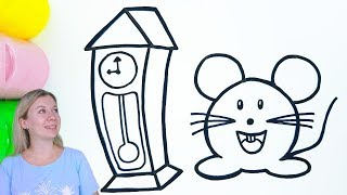 How to Draw a Mouse and a Clock
