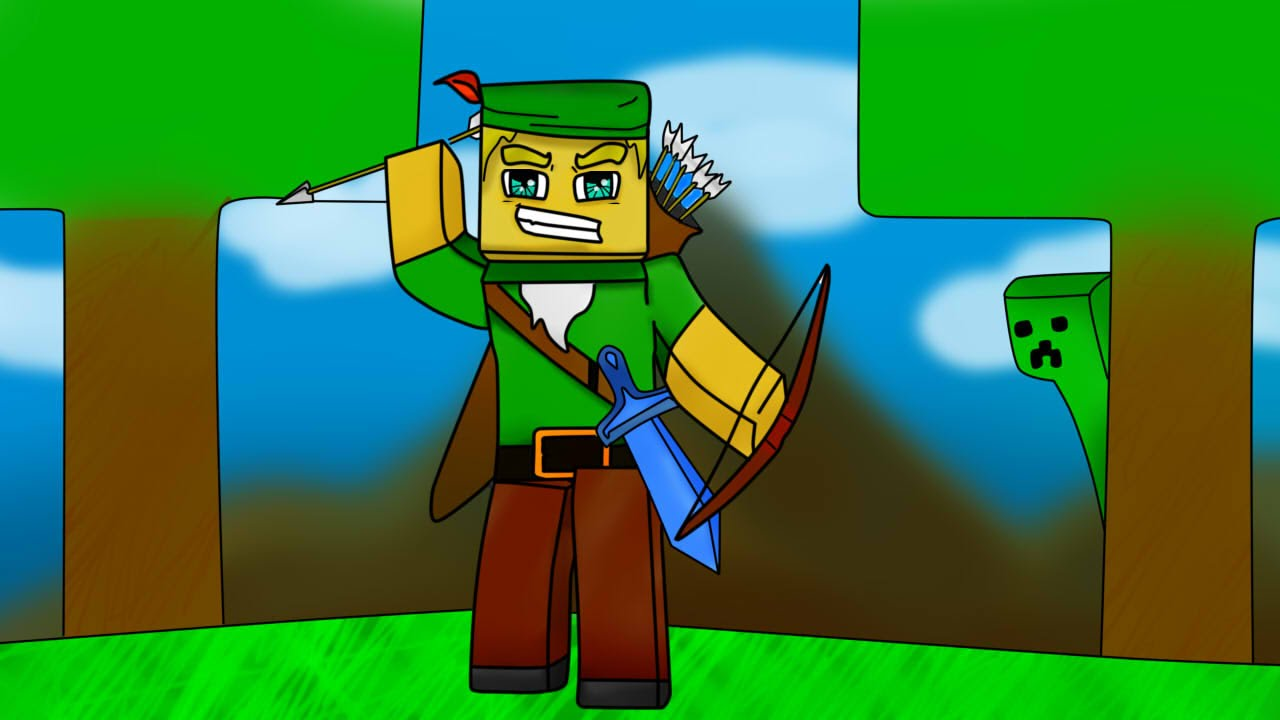 fã speed art minecraft robin hood gamer youtube