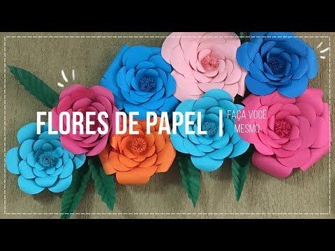 Diy Flores De Papel Passo A Passo Thina Caroline Youtube