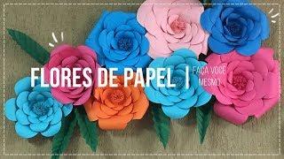 DIY | FLORES DE PAPEL - PASSO A PASSO | Thina Caroline