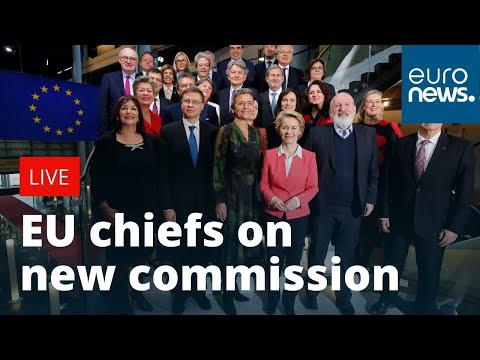European Parliament leaders speak about new EU commissioners | LIVE